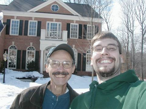 Dad and I at start of Phish winter tour 2003