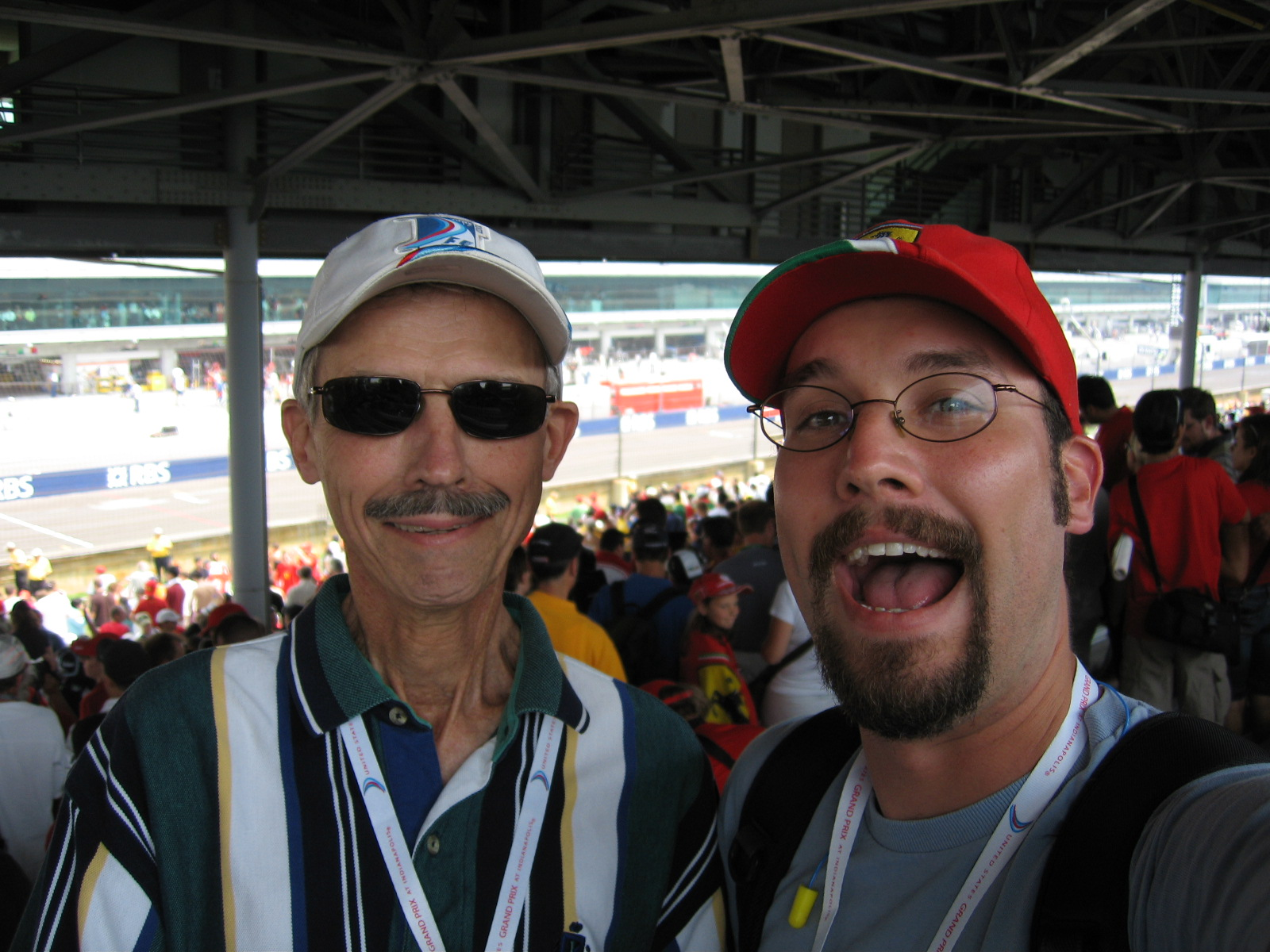 My Dad and I at USGP 2007